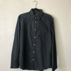 navy blue holister button up